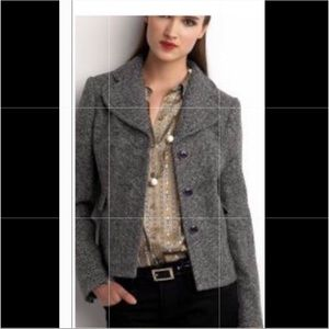 BANANA REPUBLIC TWEED WOOL BLEND BLAZER